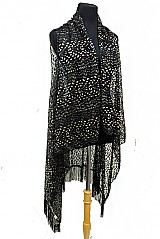 Leopard Pattern Softness Lace with Long Fringe Cardigan