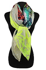 Colorful Monarch Butterfly Pattern Scarves