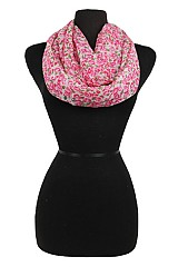 Floral Pattern Super Softness Mini Scarf