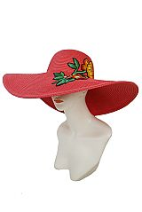 Summer Blossom Vivid Colored Embroidered Patchwork Floppy sun Hat
