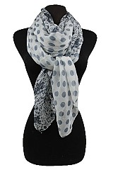 Polka dot and Floral Pattern Scarves