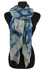 Dahlia Flower Pattern Soft Scarves