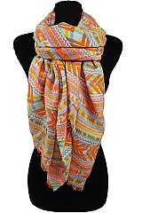 Tribal Colorful Pattern Soft Scarves