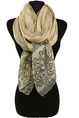Flower Paisley Pattern Soft Scarves
