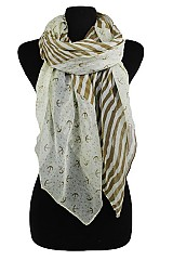 Anchor and Striped design Softness Scarf