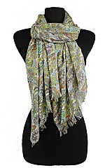 Colorful Paisley Vintage Style super softness Scarf