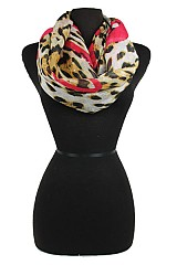Animal Pattern with Heart Softness scarf