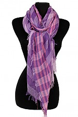 Striped and Checked Pattern Vintage Style Super Softness Scarf