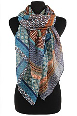 Color Full Clover Floral Scarves & Wraps