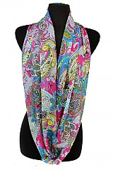 Paisley Overload Colorful Loads Softness Infinity Scarves