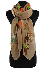 Humming Bird Floral Scarves & Wraps