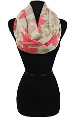 Colorful Flower Pattern Infinity Scarves