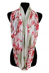 Cherry Blossom Printed Petite Softness Scarves