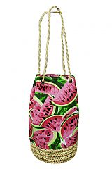Watermelon Straw Beach Bucket bag