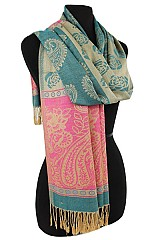 Paisley Color full Soft Pashmina & Shawl.