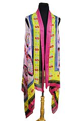 Aztec Pattern Super Softness Striped Design Vest Kimono