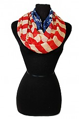 Fashion Pattern American Flag Infinity Scarves