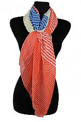 Color Block Stripe Softness Scarves