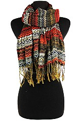 Color full Chevron Pashmina Scrunchy Design