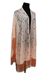 Daisy Lace Pattern Cardigan Style With Tassel