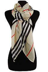 Striped Designer Scarves & Wraps