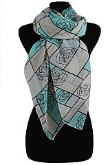 Plaid Roses Pattern Soft Scarves& Wraps