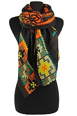 Aztec Pattern Soft Scarves & Wraps