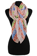 Floral Tribal Soft Scarves & Wraps