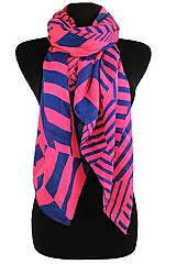 Geometric Funky Color Scarves & Wraps