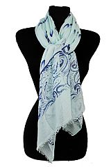 Water Drop Pattern Extra soft Oblong Scarves