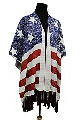 American Flag Design Large Over Sized Poncho