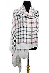 Plaid On Plaid Patterned Classic Printed Extra Soft Scarves