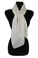 Irresistible Softness Basic Light Breezy Oblong Scarves