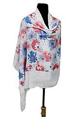 Garden Of Splash Painted Like Flower Pattern Softness Scarves