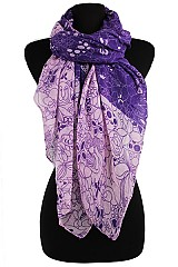Sparkle Multiple Floral Pattern scarves & Wraps