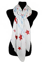 Lost At Sea anchor And Star Pattern Extra Soft Scarves