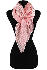 Polka dot & Striped Pattern  Soft Scarves & Wraps.