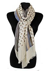 Maze Of checker And Stripped Pattern Unisex Scarves