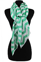 Chevron Pattern Softer Scarves & Wraps
