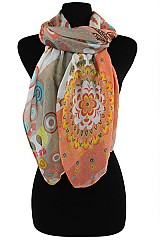 Color Full Sun Flower Scarves & Wraps