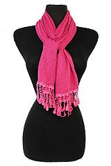 Lace-Trimmed Scarf Women's Full Of Vintage-Inspired Design