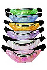 Shimmery Iridescent Mermaid Tail Pattern Fashion Fanny Pack