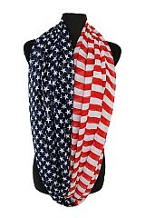 Star Overload Striped American Flag Infinities Soft Scarves