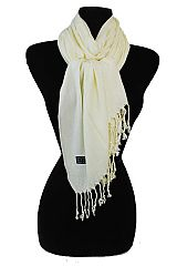 Leisure Viscose Solid Fringe Adult Unisex Everyday Scarf