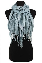 Ruffle Shiny Accent Scarves