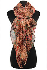 Tribal Pattern soft Scarves & Wraps