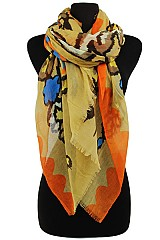 Faded Floral Scarves & Wraps