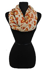 Animal Pattern Heart Design Super Softness Infinity Scarf