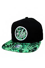 Keep It 4.20 Embroider Patched and Marijuana Printed Snap Back