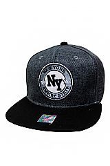 New York Empire State Embroidered Two Tone Snap Back